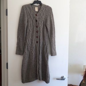 Far Away From Close cable knit duster long sweater